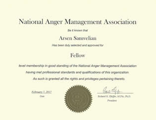 Arsen Samvelian for Court Ordered Classes an Anger Management Program Provider