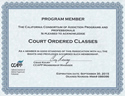 Domestic Violence Program Credentials