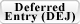 Deferred Entry Of Judgment (DEJ) Classes